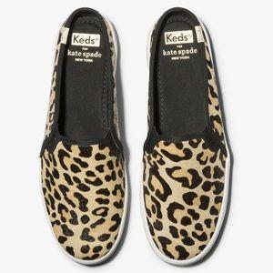Keds x Kate Spade leopard mule sneakers